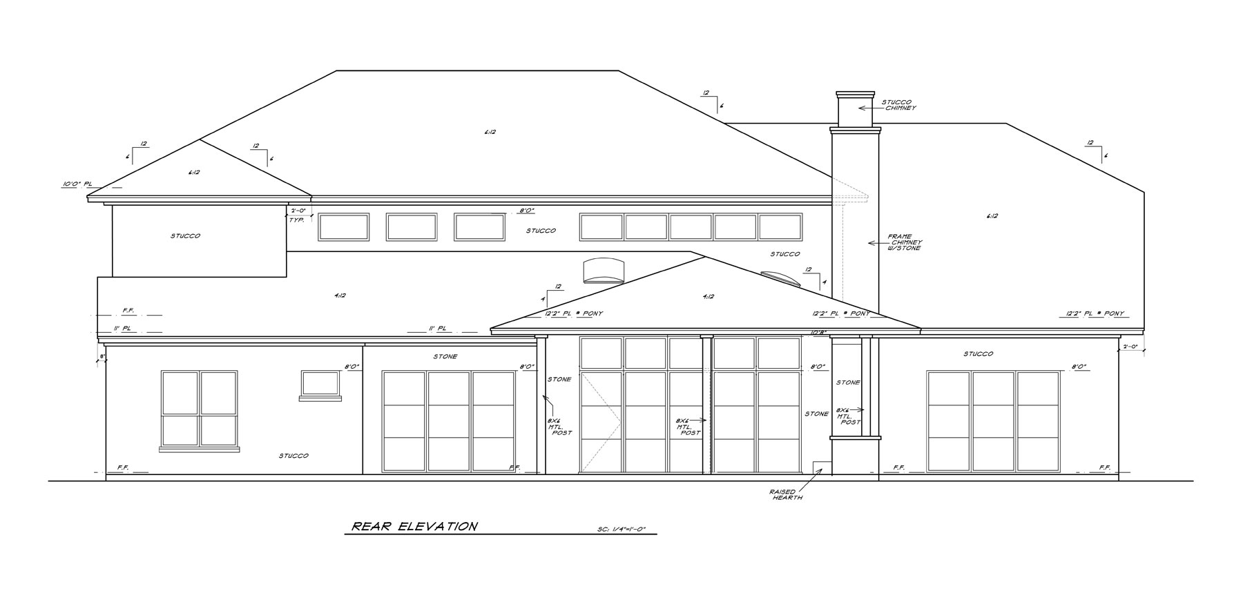 Rear Elevation Plan : Lot available concept plan sold dallas tx in