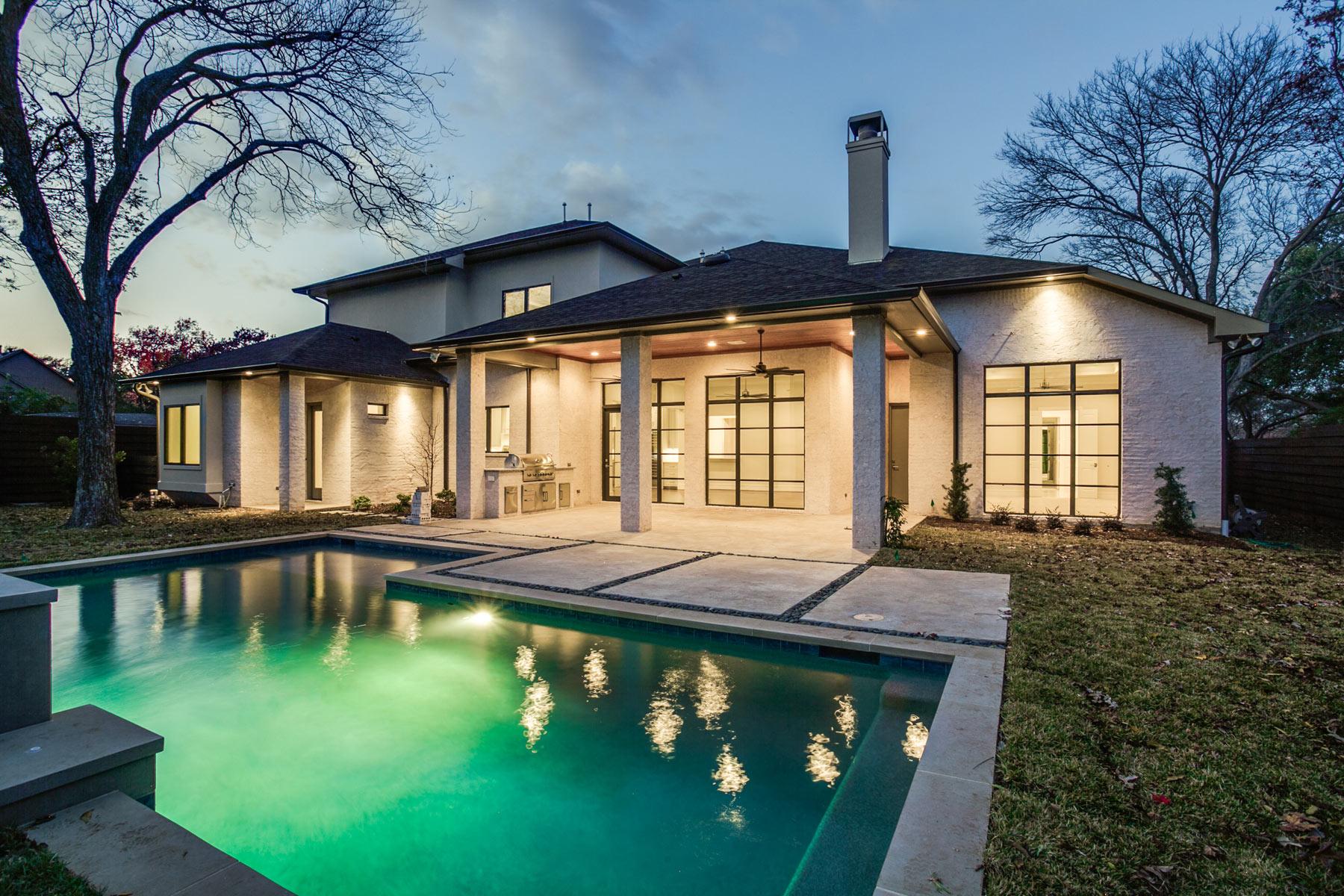 Transitional modern in preston hollow sold desco fine for Modern home builders dallas