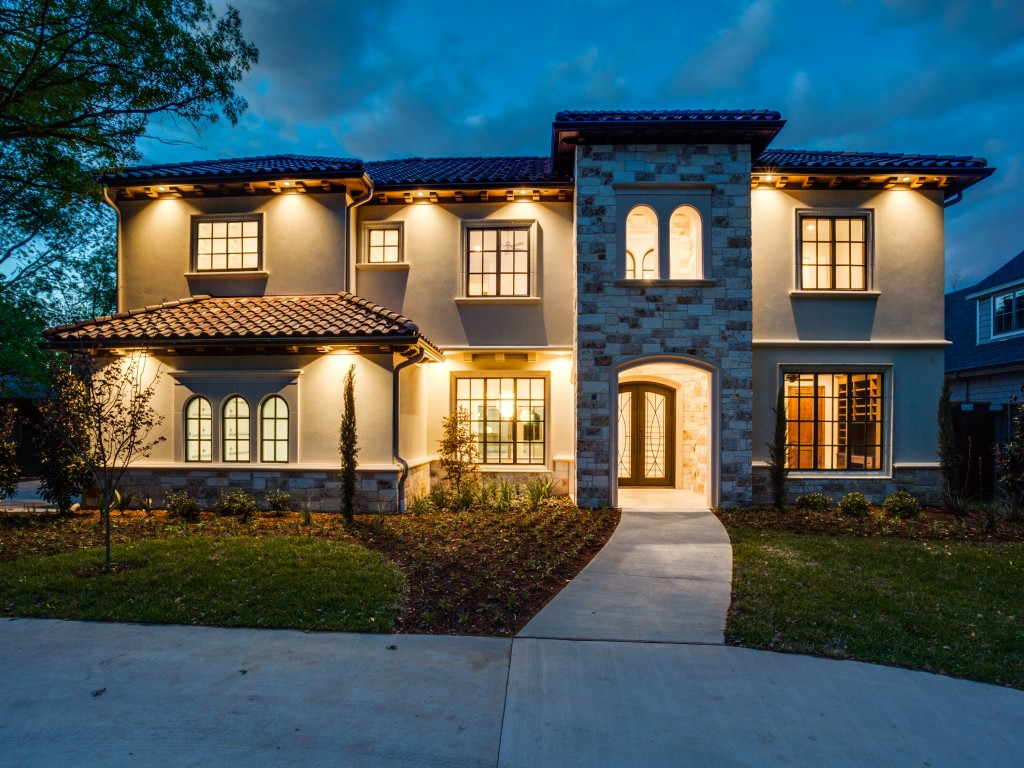Custom home in preston hollow dallas tx built by custom home builder