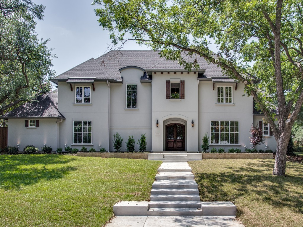 Custom built home in preston hollow dallas tx built by for Texas fine home builders