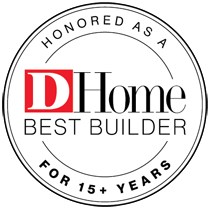 Desco Fine Homes honored as D Home's Best Builder in Dallas for 15+ years in a row.